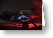 Cannons Greeting Cards - An Ah-64d Apache Longbow Greeting Card by Terry Moore