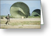 Humanitarian Aid Greeting Cards - An Air Delivery Of Humanitarian Aid Greeting Card by Stocktrek Images