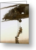 Iraq Greeting Cards - An Air Force Hh-60g Pavehawk Deploys Greeting Card by Stocktrek Images