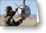 Smart Greeting Cards - An Airman Ensures A Gbu-31 Joint Direct Greeting Card by Stocktrek Images