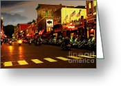 Harley Davidson Rally Greeting Cards - An American Dream Greeting Card by Anthony Wilkening