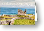 Celt Greeting Cards - An Ancient Irish Castle Greeting Card by Natasha Bishop