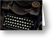 Typewriters Greeting Cards - An Antique Typewriter In A Shop Greeting Card by David Evans