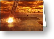Cataclysm Greeting Cards - An Artistic View Of Young Earth Greeting Card by Frieso Hoevelkamp