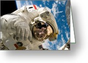 Terra Greeting Cards - An Astronaut Mission Specialist Greeting Card by Stocktrek Images