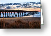 Oats Greeting Cards - An Atlantic Daybreak Greeting Card by JC Findley
