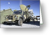 Antenna Greeting Cards - An Australian Defense Force Satellite Greeting Card by Stocktrek Images