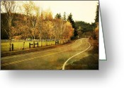 Pdx Art Greeting Cards - An Autumn Afternoon Greeting Card by Cathie Tyler