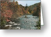 River Scenes Greeting Cards - An Autumn Scene Along Little River Greeting Card by J. Baylor Roberts