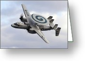 Airplane Greeting Cards - An E-2c Hawkeye Performs A Fly-by Greeting Card by Stocktrek Images