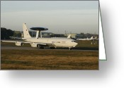 Nato Greeting Cards - An E-3 Sentry At The Nato Awacs Base Greeting Card by Timm Ziegenthaler