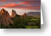 Garden Of The Gods Greeting Cards - An Early Summer Morning Greeting Card by Tim Reaves