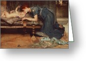 Alma-tadema Greeting Cards - An Earthly Paradise Greeting Card by Sir Lawrence Alma-Tadema