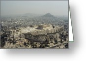 Parthenon Greeting Cards - An Elevated View Of The Parthenon Greeting Card by James P. Blair