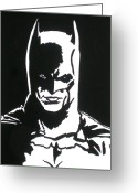 Superman Digital Prints Greeting Cards - An Eye To See Batman Greeting Card by Robert Margetts