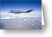 Smart Greeting Cards - An F-117 Nighthawk Releases A Gbu-31 Greeting Card by HIGH-G Productions
