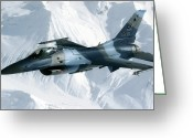 Air-to-air Greeting Cards - An F-16 Aggressor Disconnectsfrom Greeting Card by Stocktrek Images