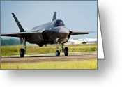 Eglin Greeting Cards - An F-35 Lightning Ii Taxiing At Eglin Greeting Card by Stocktrek Images