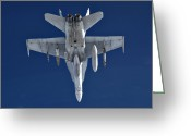 Smart Greeting Cards - An Fa-18 Hornet On Patrol Greeting Card by Stocktrek Images