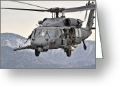 Armament Greeting Cards - An Hh-60 Pave Hawk Helicopter In Flight Greeting Card by Stocktrek Images