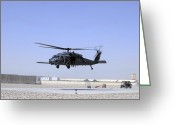 Humanitarian Aid Greeting Cards - An Hh-60g Pave Hawk Taking Greeting Card by Stocktrek Images