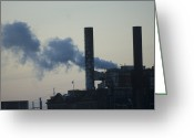 Industrial Plant Photo Greeting Cards - An Industrial Plant In St. Louis Greeting Card by Joel Sartore