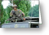 Belgian Army Greeting Cards - An Infantry Soldier Of The Belgian Army Greeting Card by Luc De Jaeger