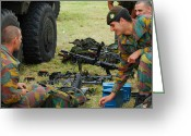 Belgian Army Greeting Cards - An Infantry Unit Of The Belgian Army Greeting Card by Luc De Jaeger