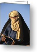 Ethnic Greeting Cards - An Informal Portrait Of A Tuareg Man Greeting Card by Michael S. Lewis