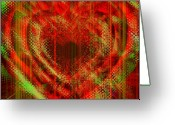 Vibe Greeting Cards - An Inimitable Heart Greeting Card by Fania Simon