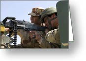 Iraqi Military Greeting Cards - An Iraqi Army Instructor Supervises An Greeting Card by Stocktrek Images