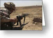 Iraqi Military Greeting Cards - An Iraqi Army Soldier Prepares To Fire Greeting Card by Stocktrek Images