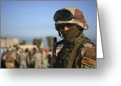 Iraqi Military Greeting Cards - An Iraqi Soldier Greeting Card by Stocktrek Images