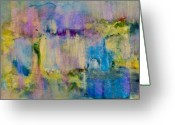 Fine Home Art And Theater Greeting Cards - An Iridescent Oil Slick  Greeting Card by Don  Wright