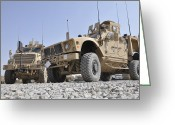 Armored Vehicles Greeting Cards - An M-atv Mine Resistant Ambush Greeting Card by Stocktrek Images