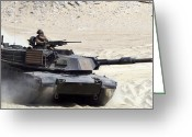 Battle Tanks Greeting Cards - An M1-a1 Abrams Main Battle Tank Greeting Card by Stocktrek Images