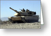 Battle Tanks Greeting Cards - An M1a1 Main Battle Tank Greeting Card by Stocktrek Images