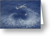 Saving Greeting Cards - An Mh-60s Knight Hawk Prepares Greeting Card by Stocktrek Images