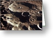 Oblique Greeting Cards - An Oblique View Of The Crater Daedalus Greeting Card by Stocktrek Images