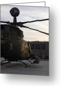 Agm-114 Greeting Cards - An Oh-58d Kiowa Helicopter Greeting Card by Terry Moore