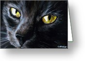 Pets Portraits Greeting Cards - An Old Friend Greeting Card by Daniel Carvalho