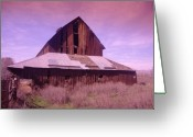 Old Farms Greeting Cards - An Old Weathered Barn  Greeting Card by Jeff  Swan