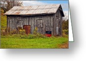 Shed Photo Greeting Cards - An Orderly World Greeting Card by Steve Harrington