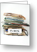 Overflowing Greeting Cards - An Overflowing In Box Greeting Card by Photo Researchers, Inc.