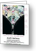 Basel Greeting Cards - Anahi DeCanio Art Basel Miami Invite Greeting Card by Anahi DeCanio