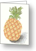 Roswitha Schmuecker Greeting Cards - Ananas No.2 Greeting Card by Roswitha Schmuecker