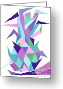 Roswitha Schmuecker Greeting Cards - Ananas No.4 Greeting Card by Roswitha Schmuecker