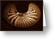1300s Greeting Cards - Anasazi Butterfly Pot Greeting Card by David Lee Thompson