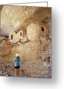 Early American Dwellings Greeting Cards - Anasazi Cliff Dwellings Colorado Greeting Card by John  Mitchell