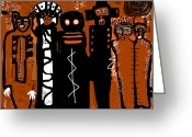 Ancient Aliens Greeting Cards - Ancestors  Greeting Card by Doug  Duffey